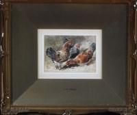 Lot 79 - John Henry Mole, VPRI (1814-1886) THREE HENS...