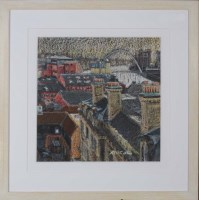 Lot 93 - Peter Collins (1938-) ''TYNE AT NIGHT'' signed;...
