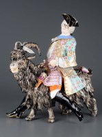 Lot 273-A Meissen model of Count Bruhl's tailor, late...