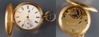 Lot 756-A gentleman's 18ct. gold Hunter pocket watch,...