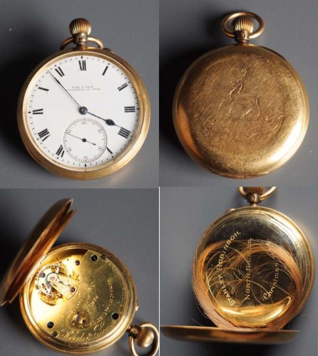 Lot 766-An Edwardian 18ct. gold gentleman's open faced...
