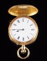 Lot 768-A Victorian gentleman's 18ct. gold hunter...