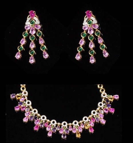 Lot 855 - A diamond, amethyst, tourmaline and citrine...