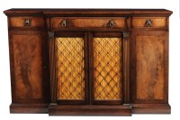Lot 982-A fine quality Regency style mahogany breakfront...