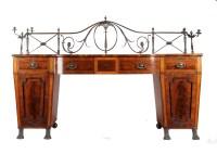 Lot 1017-A Regency mahogany breakfront sideboard, the...