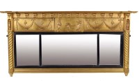 Lot 1025-A Regency giltwood and gesso overmantel mirror...