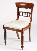 Lot 1043-A Regency rosewood dining chair with plain...