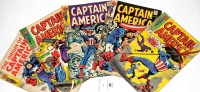 Lot 34 - Captain America, No's. 105, 106, 107, 108 and...