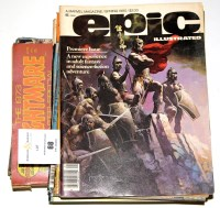 Lot 68 - 11 Epic Illustrated (Marvel 1980), sundry...