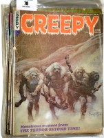 Lot 70 - Creepy comics magazine (published by Warren...