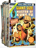 Lot 80 - Master of Kung Fu, sundry issues from No....