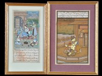 Lot 179-19th Century Indian School - Scenes of courtly...