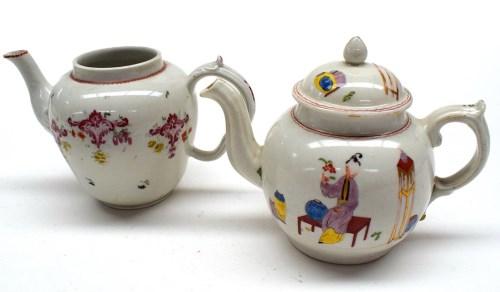 Lot 52-A Plymouth hard paste globular teapot, c.1770,...