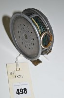 Lot 498-Hardy 3in. trout fly fishing reel in alloy with...