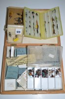 Lot 523-Three plastic, one cardboard and one large wooden ...