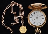 Lot 814-A George V 18ct. gold cased crown wind hunter...
