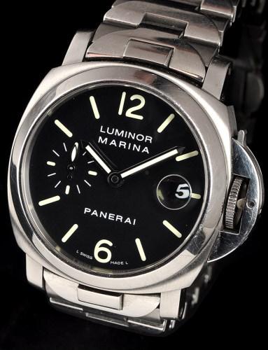 Lot 826-Panerai Luminor Marina: a gentleman's stainless...