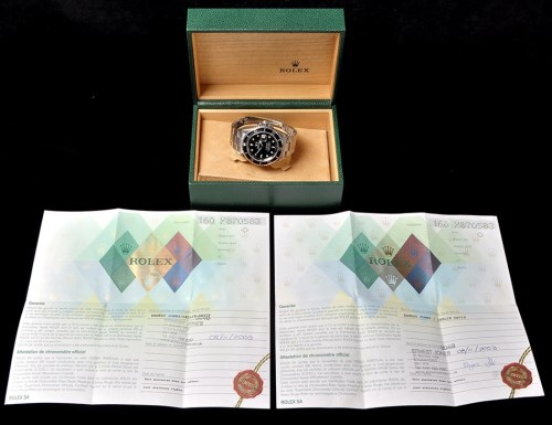 Lot 856-An extremely rare Rolex Submariner stainless...