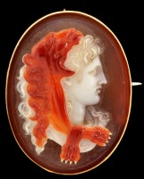 Lot 1011 - A 19th Century carved hardstone (banded agate)...