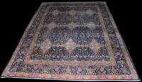 Lot 1019 - A Kilim carpet, with repeated diamond-shaped...