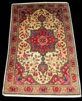 Lot 1020 - A Kashmar rug, the central rosette medallion...