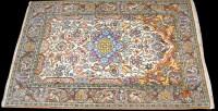 Lot 1023 - A Kashmar rug, the central rosette medallion...