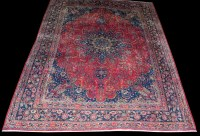 Lot 1025 - A Kashmar carpet, the central rosette...