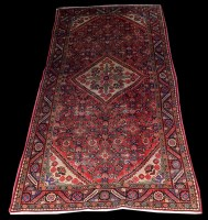 Lot 1031 - A Hamadan rug, of Lori design, with central...