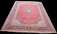 Lot 1034 - A Kashan carpet, the central diamond-shaped...