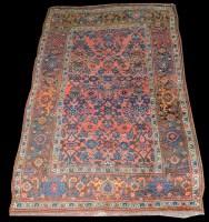 Lot 1042 - A Bidjar rug, with scrolling floral design to...