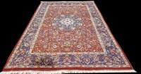 Lot 1052 - A Kashan carpet, the central rosette medallion...