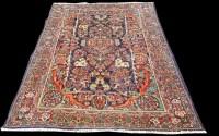Lot 1053 - A fine Mahal rug, bold floral design...