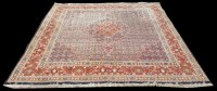 Lot 1054 - A Moud carpet, the central medallion and field...