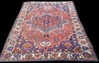 Lot 1055 - A Bakhtiari rug, early 20th Century, geometric...
