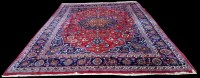 Lot 1064 - A Mashad carpet, with central rosette...