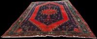 Lot 1068 - A Kurdish carpet, with geometric design and...