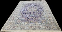 Lot 1069 - A Nain carpet, the central rosette surrounded...
