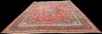 Lot 1070 - A Kashan carpet, the central rosette medallion...
