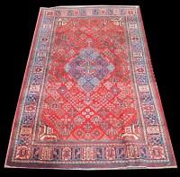 Lot 1078 - A Joshagan rug, the diamond-shaped medallion...