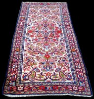 Lot 1089 - A Lilian runner, decorated with floral scrolls...