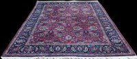 Lot 1094 - A Mashad carpet, with floral scrolls on a...