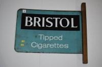 Lot 3 - 'Bristol Tipped Cigarettes' enamel advertising...
