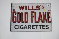 Lot 9 - 'Wills Gold Flake Cigarettes', enamel...