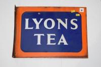 Lot 21 - 'Lyons Tea' enamel advertising sign, double...