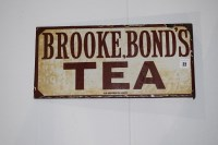 Lot 22 - 'Brooke Bond's Tea' enamel advertising sign,...