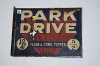 Lot 24 - 'Park Drive Plain & Cork tipped' enamel...