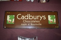 Lot 29-'Cadburys Chocolate' enamel advertising sign,...