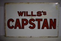 Lot 31 - 'Wills Capstan' enamel advertising sign, 104 x...