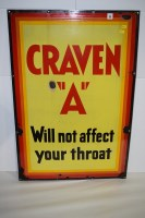 Lot 33 - 'Craven ''A'' Cigarettes' enamel advertising...