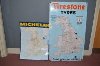 Lot 40-'Firestone Tyres' enamel advertising sign,...